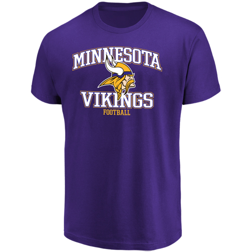 Men's Majestic Purple Minnesota Vikings Greatness T-Shirt