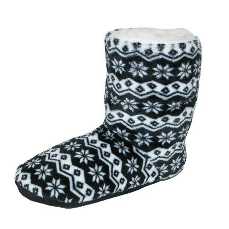 Women's Nordic Pattern Slipper Bootie,  (Free Patterns Slippers)