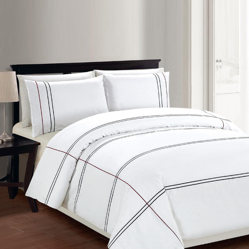 Linen Depot Direct Cedano 3 Piece Duvet Cover Set