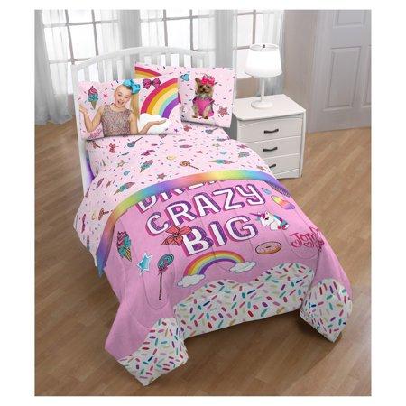 JOJO Siwa Rainbow Comforter and Sheet Set with Buddy Bow Pillow Twin/Single Bed Girl Room