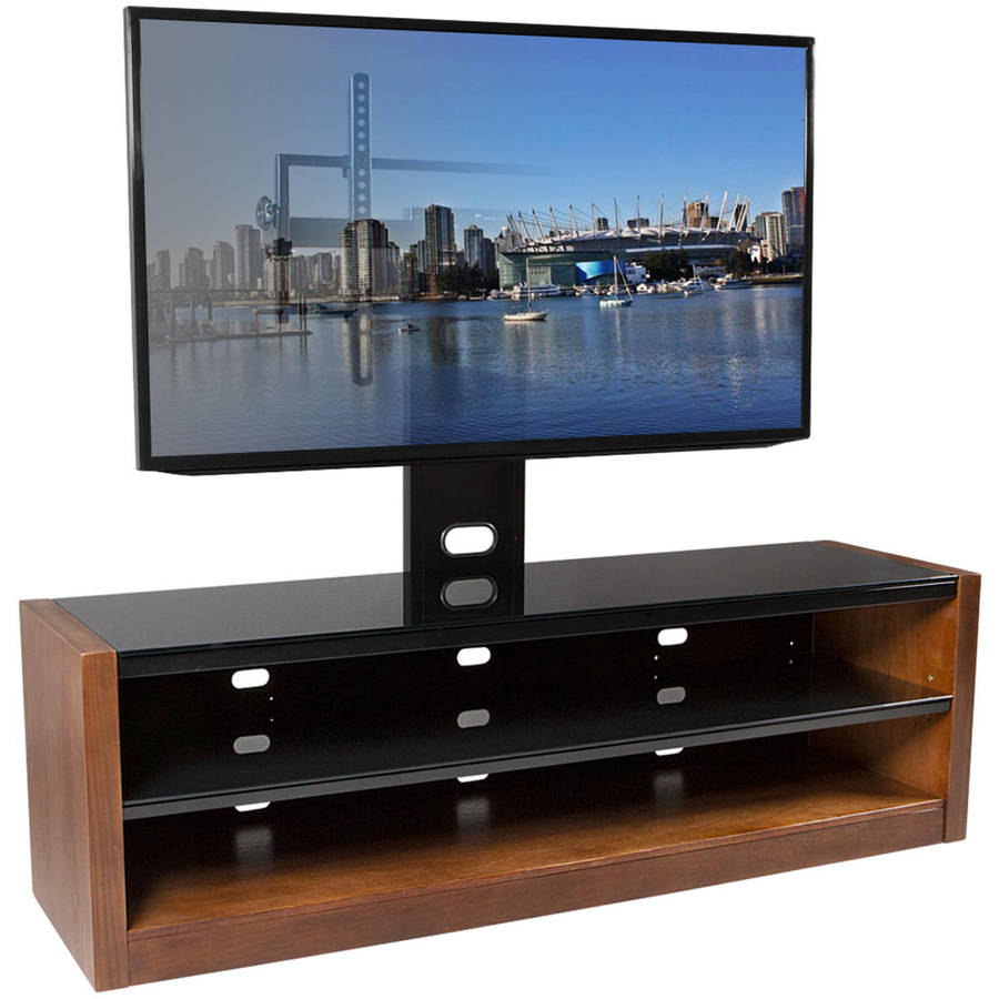 "Kanto MESA 64 Plus TV Stand with Tilt and Swivel Mount for Displays up to 80"", Walnut"