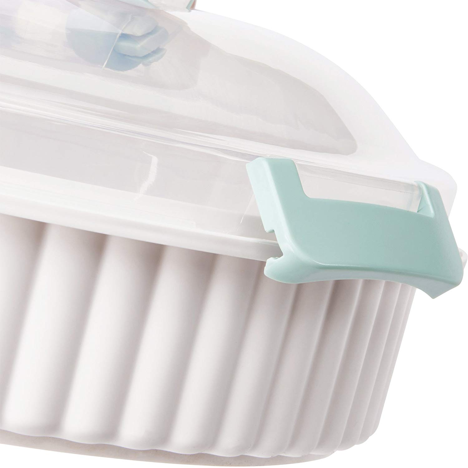BPA free by Sweet Creations 12 L x 12 W x 4-1//4 H Pie Carrier by Sweet Creationsn 2-piece-set