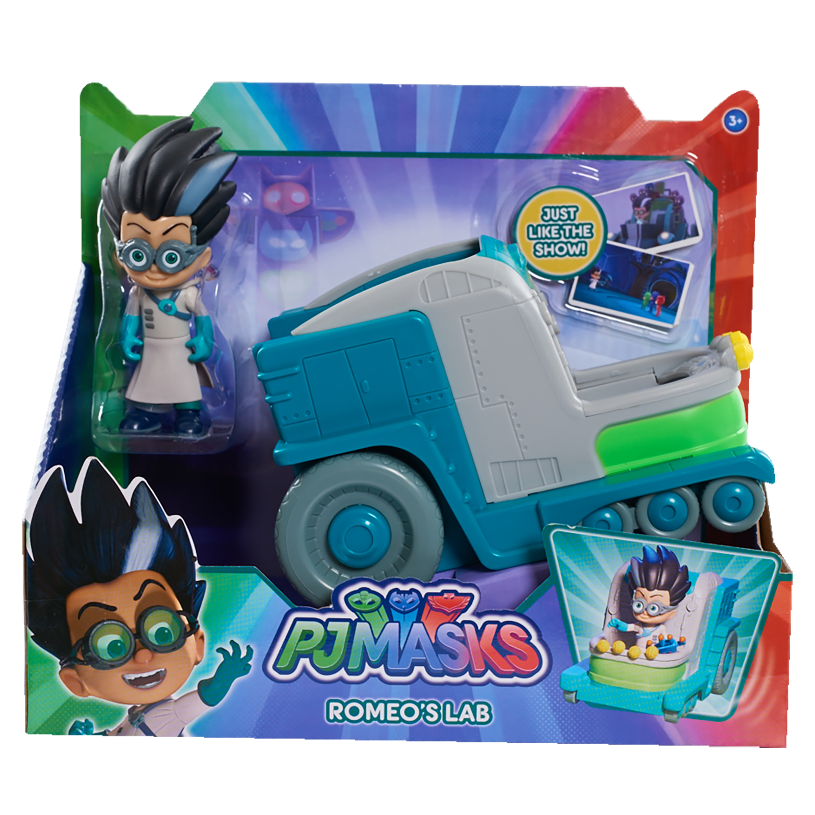 Disney Junior Pj Masks Romeo S Lab Vehicle Amp Figure