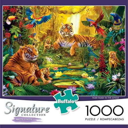 Lsu Tigers Puzzle (1000-Piece Signature: Tiger Family in the Jungle Puzzle )