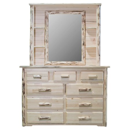 (Montana Woodworks Montana 9-Drawer Dresser with Optional Mirror)