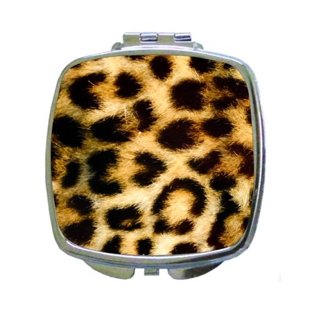 Leopard Animal Wildlife Cheetah Skin Print - Compact Beauty Mirror - Square Shaped](Cheetah Makeup)