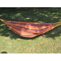 Strong Camel PURPLE ORANGE Hammock Double Size Quilted Fabric Heavy Duty Sleep Bed W/Pillow no wooden stick