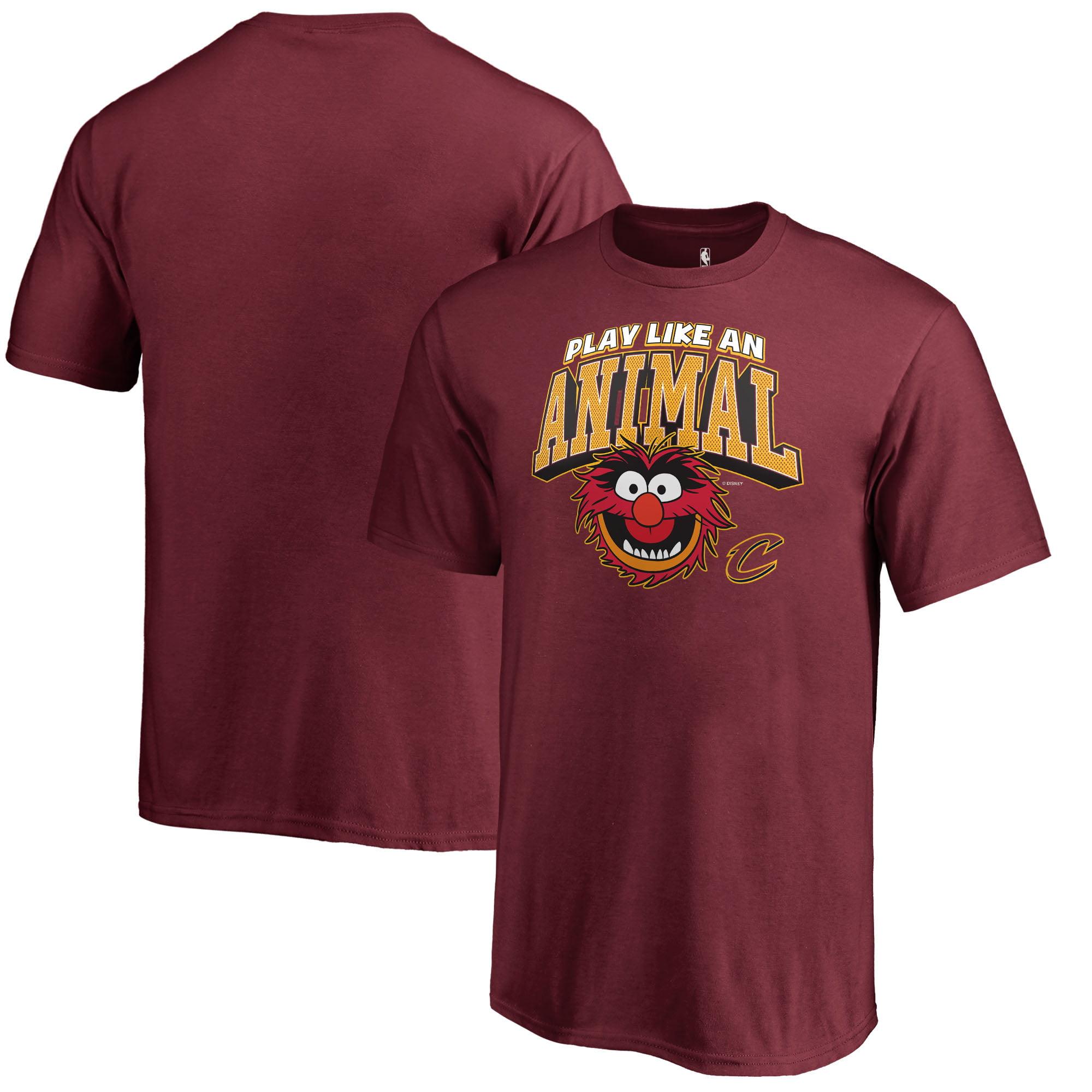 Cleveland Cavaliers Fanatics Branded Youth Disney NBA Muppets Play Like an Animal T-Shirt - Wine