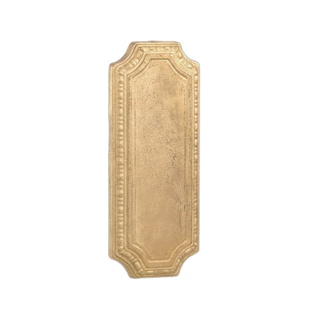 """B&P Lamp® 6 9/16"""" Die Cast Brass Back Plate, Unfinished"""