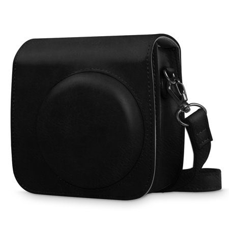 Cozy Camera Bag - Fintie Protective Case for Fujifilm Instax Mini 8 Mini 8+ Mini 9 Instant Camera - Vegan Leather Bag Cover with Strap