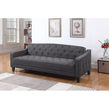 Coaster Fabric Sofa Bed With Dark Grey Finish 360016