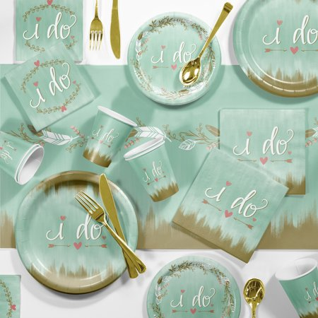 Large Mint to Be I Do Party Supplies Kit