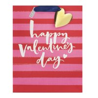Hallmark Large Valentine's Day Gift Bag (Red and Pink Stripes)
