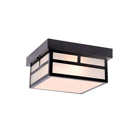 Acclaim 4710BK Artisan Collection 2-Light Ceiling Mount Outdoor Light Fixture, Matte (Acclaimed Lighting Collection)