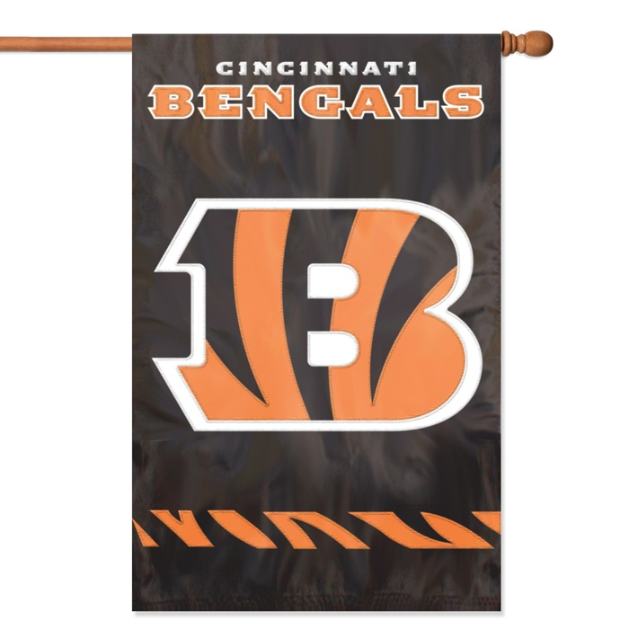 "CINCINNATI BENGALS 44""x28"" 2-SIDED BANNER FLAG"