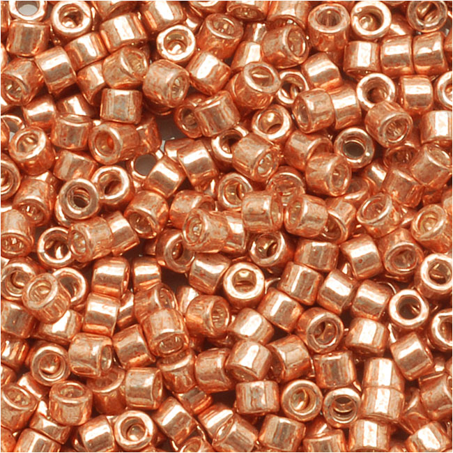 Miyuki Delica Seed Beads 11/0 Galvanized Muscat Copper DB434 7.2 Grams