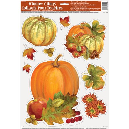 Fall Party Decorations (Pumpkin Harvest Fall Window Cling)