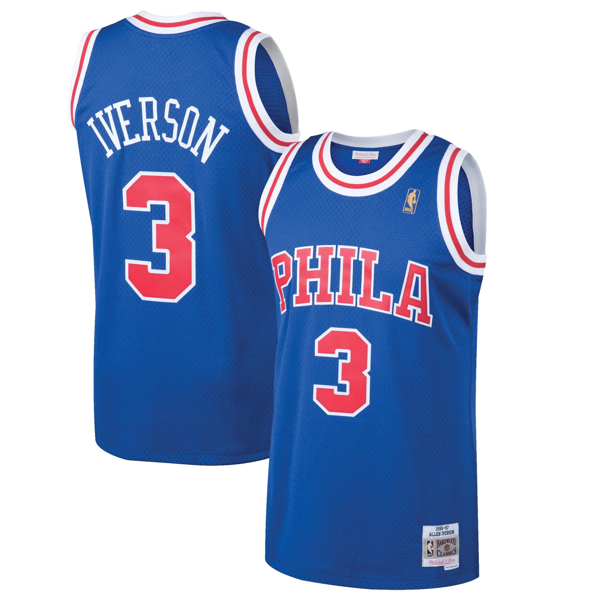 Allen Iverson Philadelphia 76ers Mitchell & Ness 1996-97 Hardwood Classics Swingman Jersey - Royal