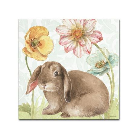 Spring Bunny - Trademark Fine Art 'Spring Softies Bunnies III' Canvas Art by Lisa Audit