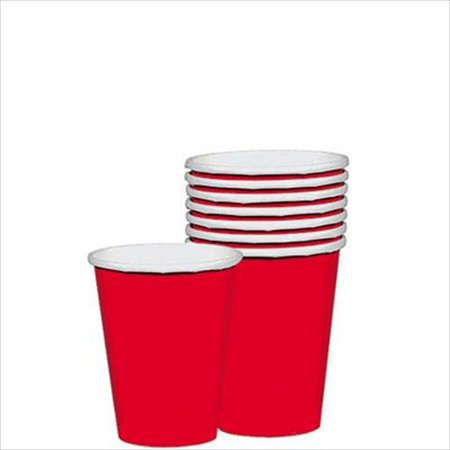 Apple Red 20 Ct Paper 9 oz Cups Christmas (Christmas Paper Cups)