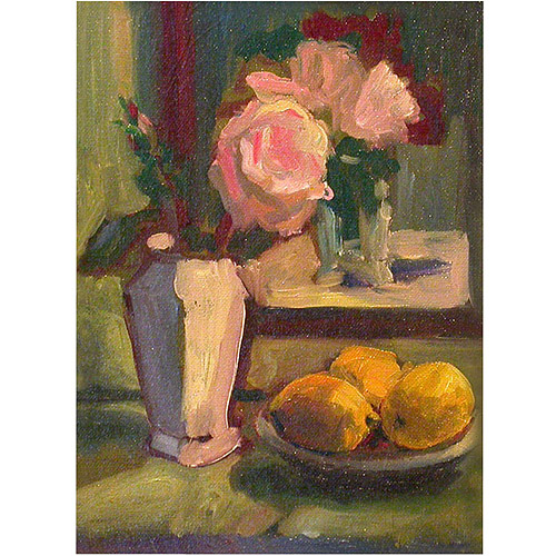 "Trademark Fine Art ""Roses and Lemons"" Canvas Art by Wendra, 14x19"