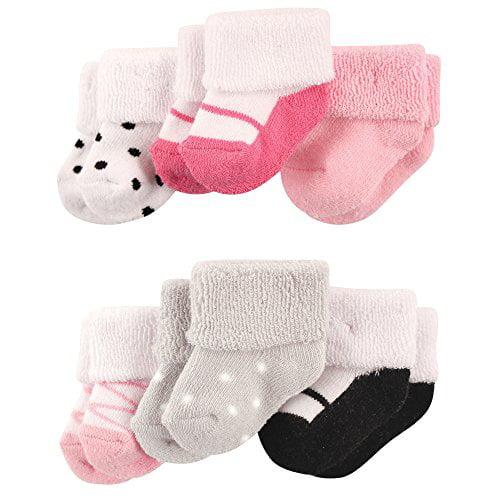 Luvable Friends unisex-baby  Newborn Terry Socks 6-pack Socks