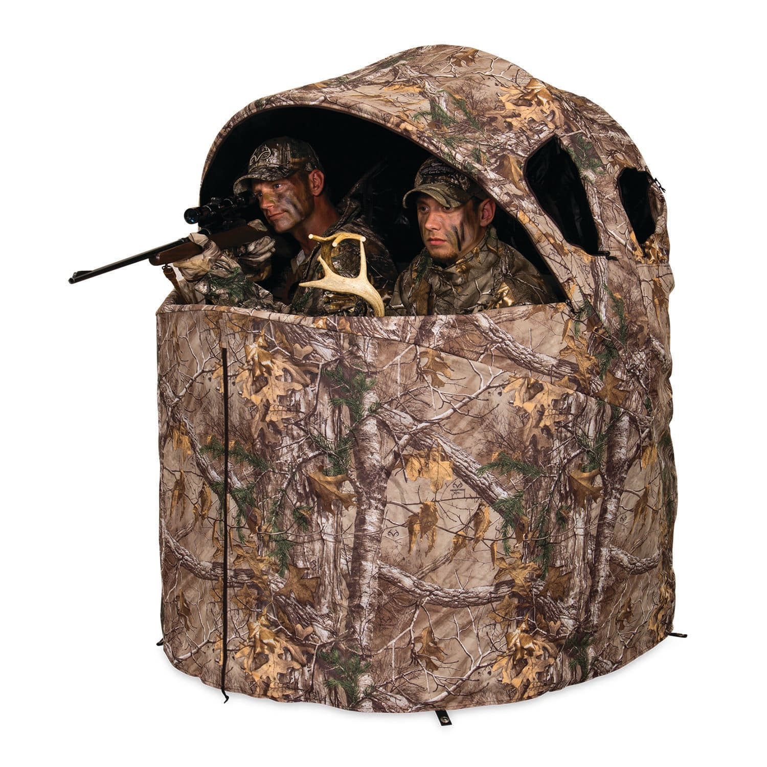 from sight sound gear with hunting warlock disappear hot blinds articles ameristep ground blind deer