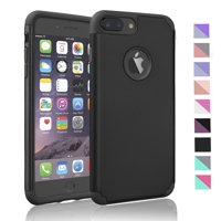 iPhone 8 Plus Case, iPhone 8 Plus 2017 Case,Njjex Shock Absorbing Hard Slim Thin Cute Cover [Scratch Proof] Plastic Shell+TPU Rubber Inner For iPhone 8 Plus 5.5 Inch