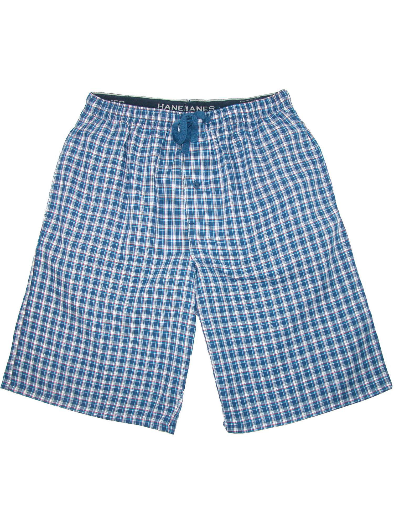 Men's Big and Tall Madras Sleep Pajama Shorts