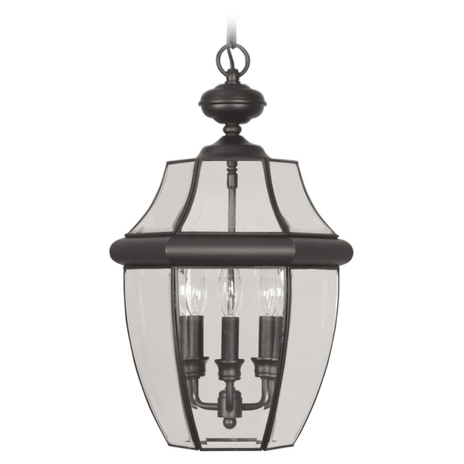 Livex Lighting Monterey 3 Light Outdoor Chain Lantern
