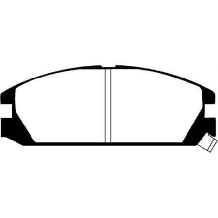 Integra Brake (EBC 86-89 Acura Integra 1.6 Greenstuff Front Brake Pads)