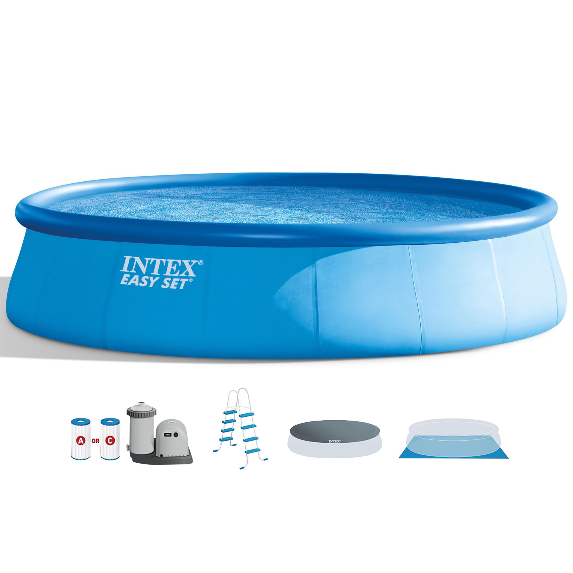"""Intex 18' x 48"""" Easy Set Above Ground Pool with Filter Pump"""