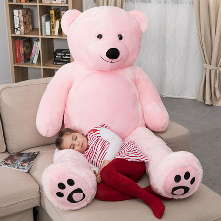 First Christmas Teddy Bear (WOWMAX 6 Foot Giant Huge Life Size Teddy Bear Daney Cuddly Stuffed Plush Animals Teddy Bear Toy Doll for Birthday Christmas Pink 72 Inches)
