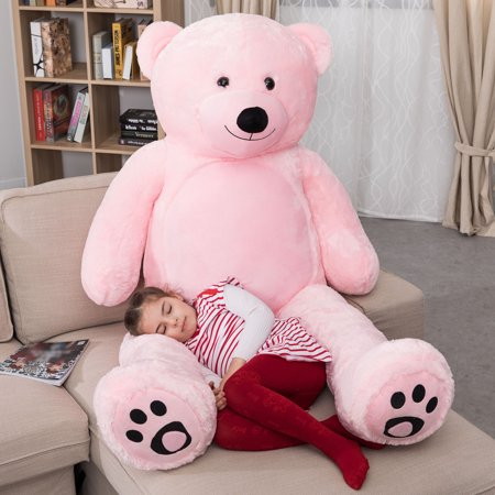 WOWMAX 6 Foot Giant Huge Life Size Teddy Bear Daney Cuddly Stuffed Plush Animals Teddy Bear Toy Doll for Birthday Christmas Pink 72 Inches](Shih Tzu Teddy Bear Halloween)