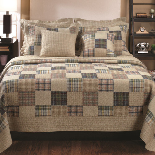 Bundle-19 Greenland Home Fashions Oxford Mini Quilt Collection (2 Pieces)