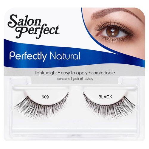 Salon Perfect Perfectly Natural Eyelashes, 609 Black, 1 pr