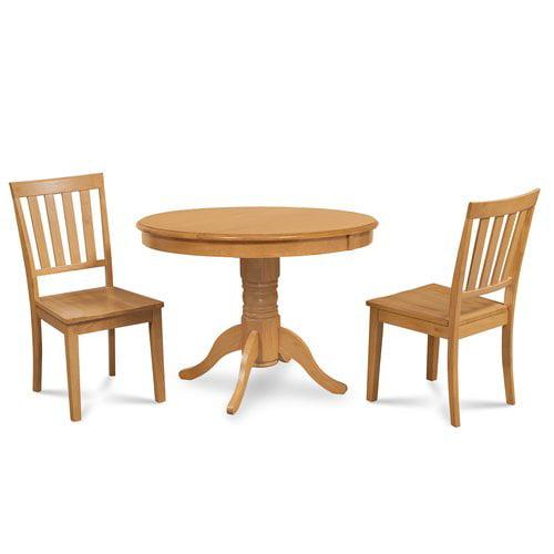Alcott Hill Cedarville 3 Piece Solid Wood Dining Set