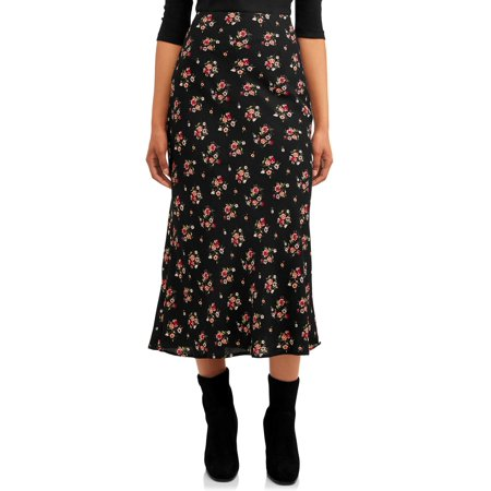 Love Sadie Women's Floral Print Maxi Skirt With Love Print Skirt