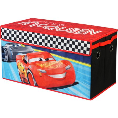Disney Cars 3 McQueen Oversized Collapsible Soft Storage Play Trunk