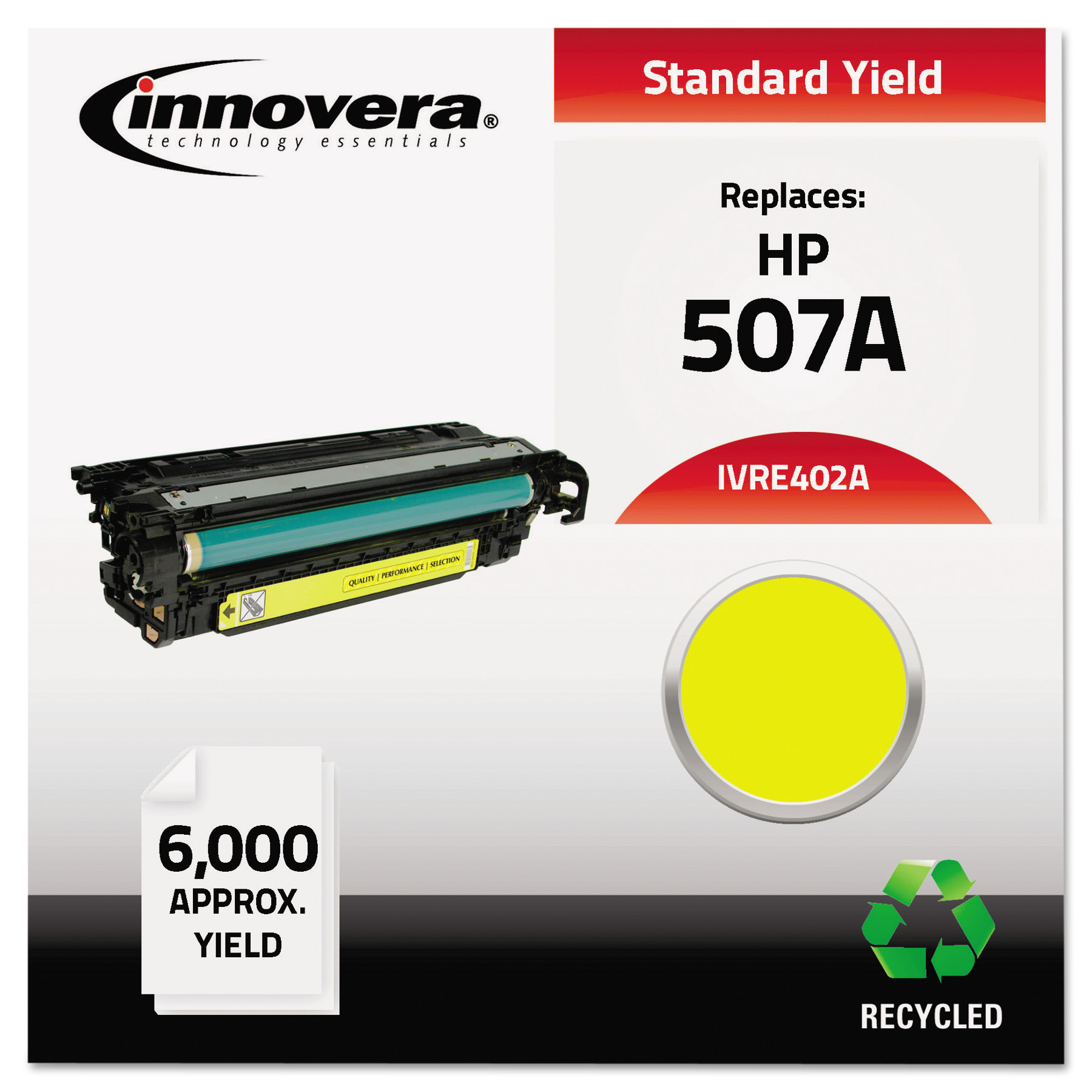 Innovera Remanufactured CE402A (M551) Yellow Toner Cartridge