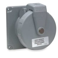 HUBBELL WIRING DEVICE-KELLEMS M4100R12 Pin and Sleeve Receptacle,100A,125/250V