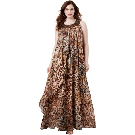 Plus Size Tribal Maxi Dress