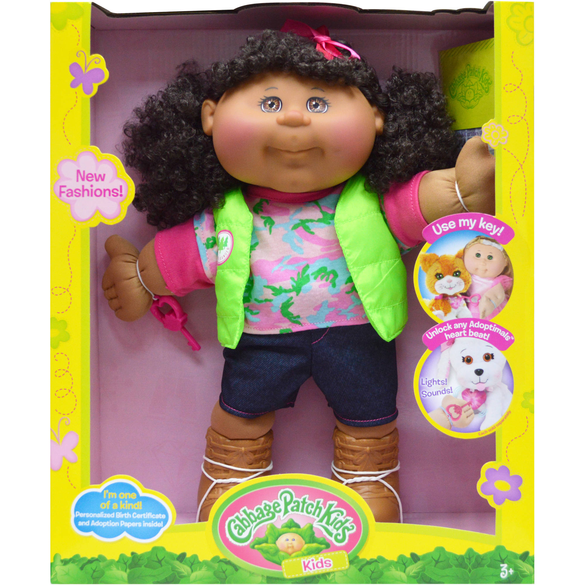 Cabbage patch kids 14 girl adventure african american with cabbage patch kids 14 girl adventure african american with brown eyes walmart 1betcityfo Images
