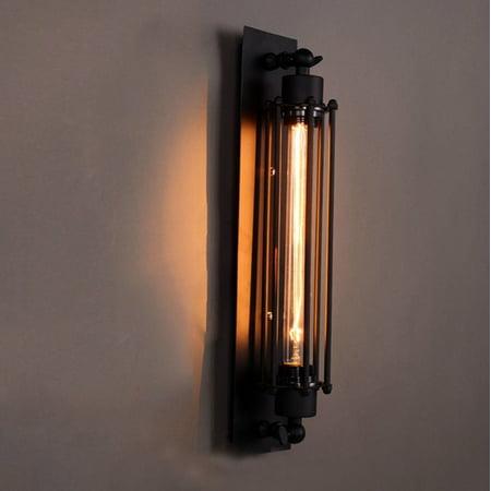 Ubesgoo Retro Wall Light Fixture Flute Shape Ironwork Home