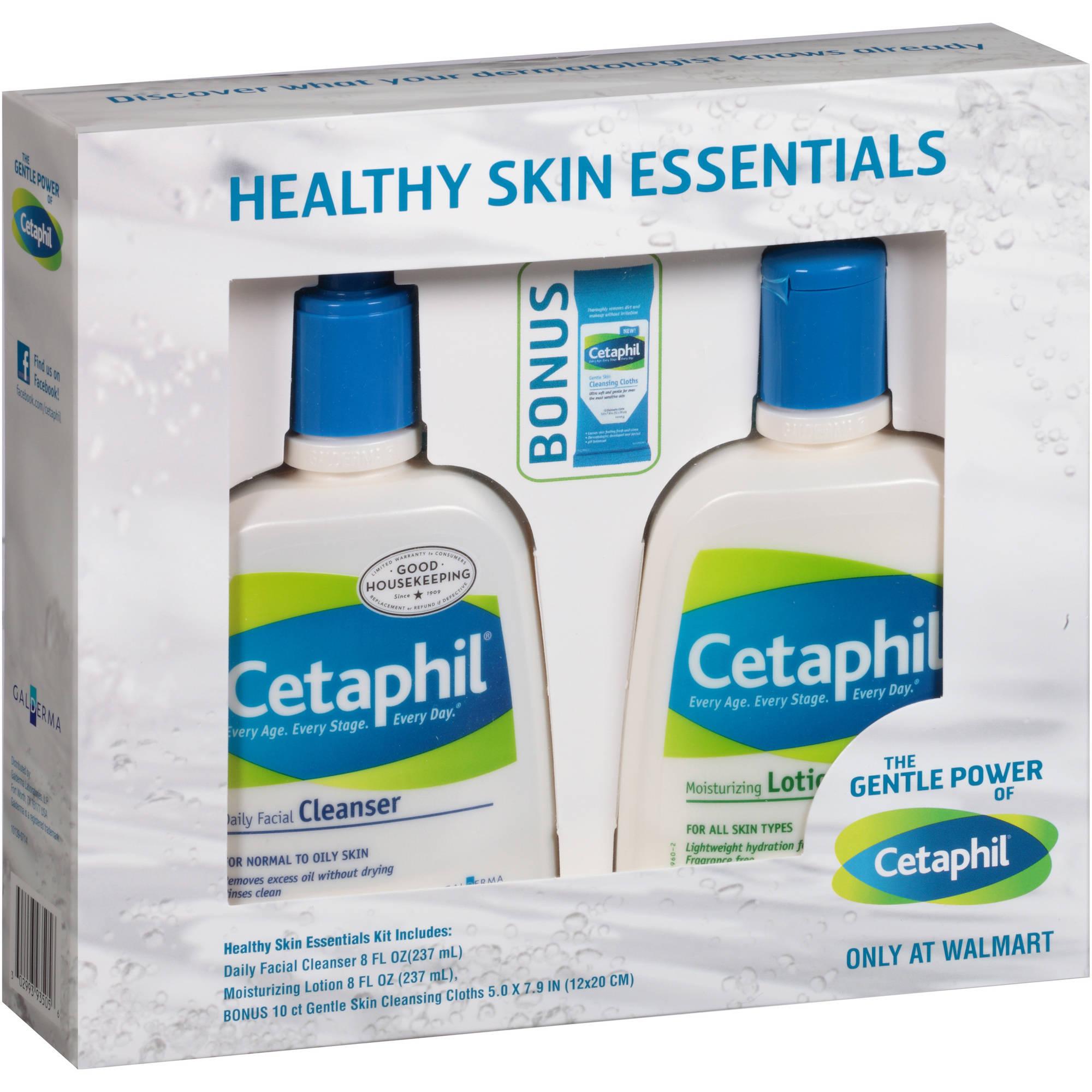 Galderma Laboratories, L.P. Cetaphil Healthy Skin Essentials Kit, 3 pc