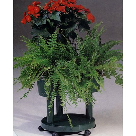Plant Stand Three Flower Pots Or Containers Modular Green Italian Wheels