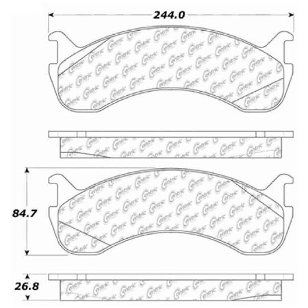 Go-Parts OE Replacement for 2003-2013 Freightliner M2 106 Rear Disc Brake  Pad Set for Freightliner M2 106