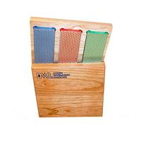"DMT 6"" Diamond Whetstone Kit (Coarse, Fine, Extra Fine) with Hard Wood Box"