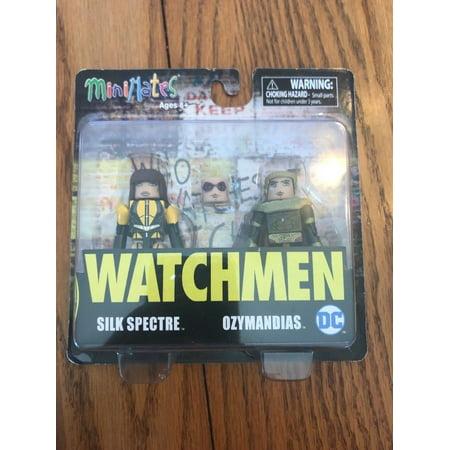 MiniMates Watchmen SILK SPECTRE & OZYMANDIAS 2 Figure Pack Ships N 24h - Silk Spectre Watchmen