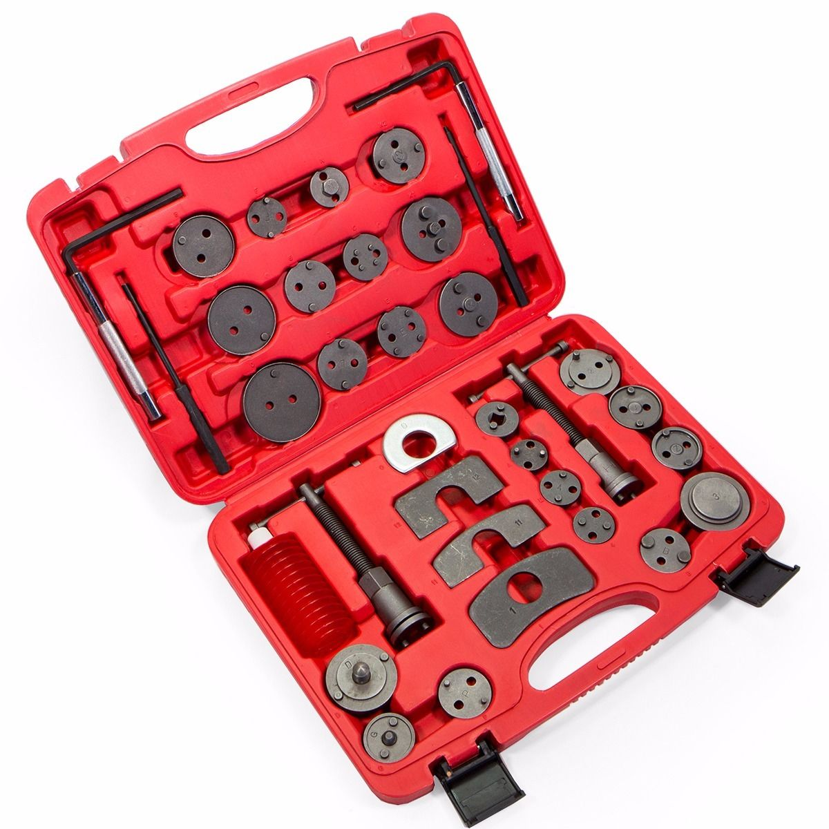 GHP 35-Pcs Universal Left & Right Threaded Brake Disc Caliper Tool Kit with Case